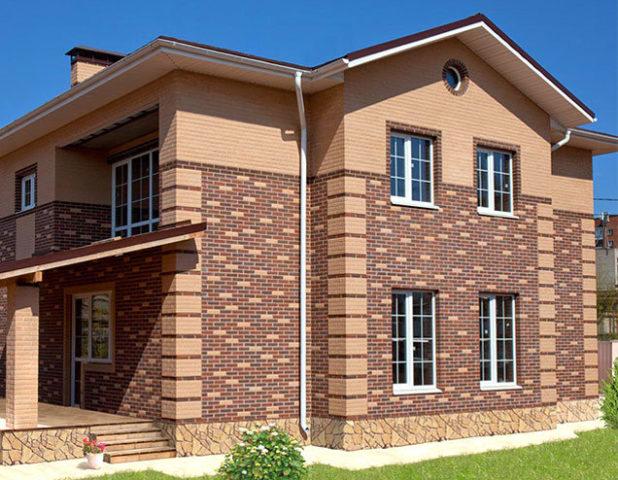 <p>Малоэтажный жилой дом с использованием кирпичной кладки «Вавилон»</p>