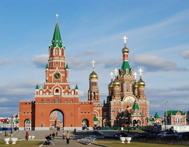 Башня «Дружбы народов» г. Йошкар-Ола, облицовка кирпичом КОЛПо
